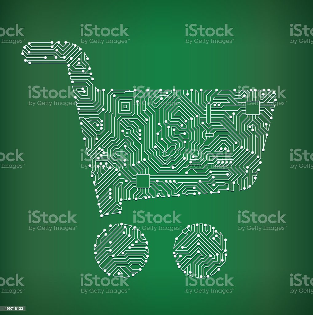 Shopping Cart Circuit Board Royalty Free Vector Art Background Stock Where To Buy Boards
