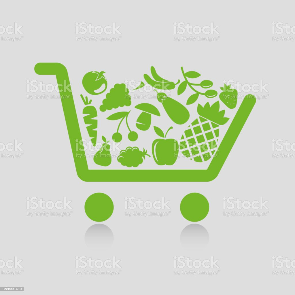 Shopping cart concepts vector art illustration