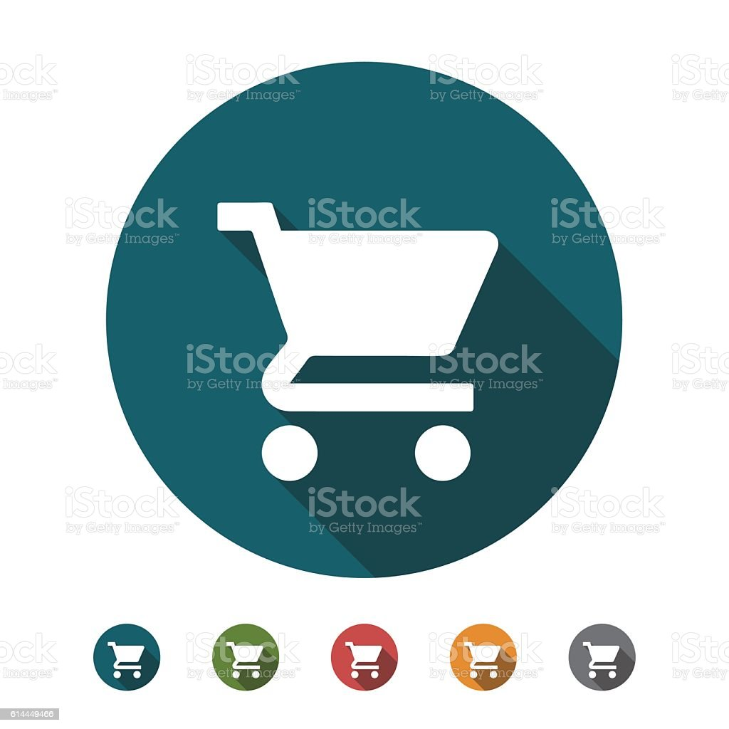 Shopping Cart flat icon vector art illustration