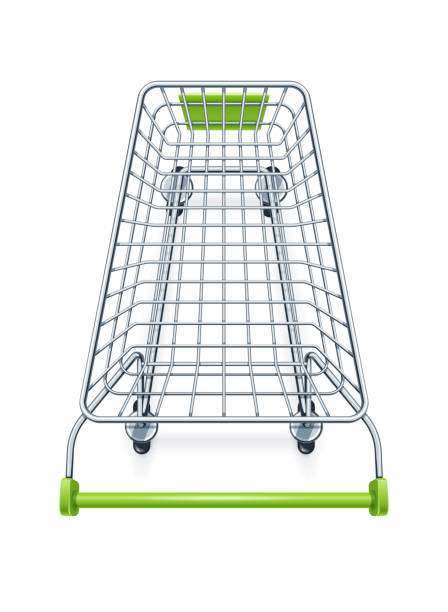shopping cart for supermarket products. - koszyk sklepowy stock illustrations