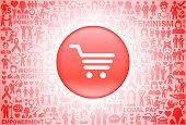 Shopping Cart Girl Power Women's Rights Background