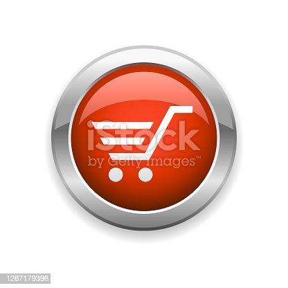 istock Shopping Cart Glossy Icon 1267179396