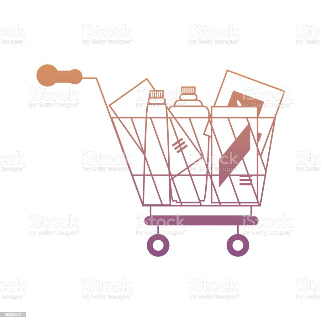 shopping cart icon image vector art illustration