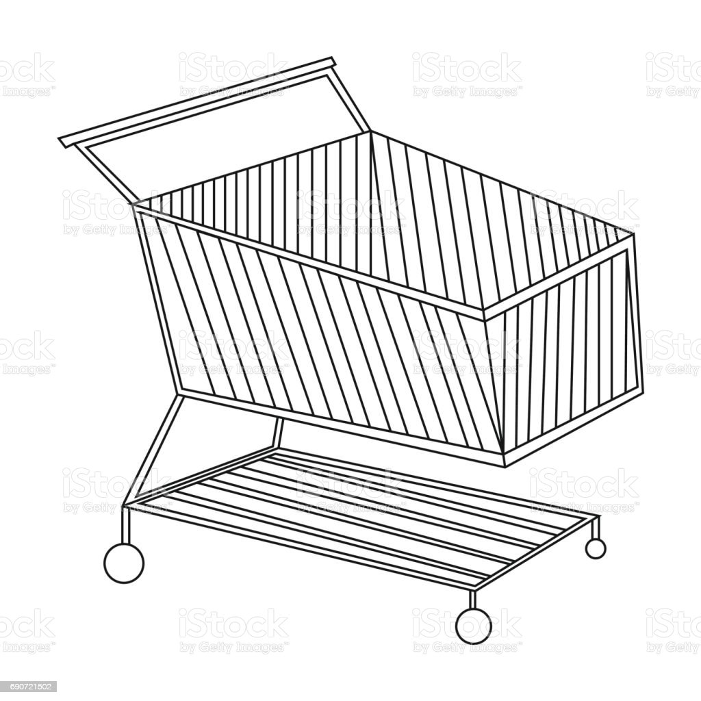 It's just a photo of Striking Shopping Cart Drawing