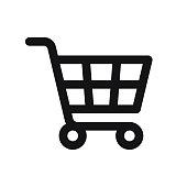 istock Shopping Cart Icon isolated on white background 1206806317