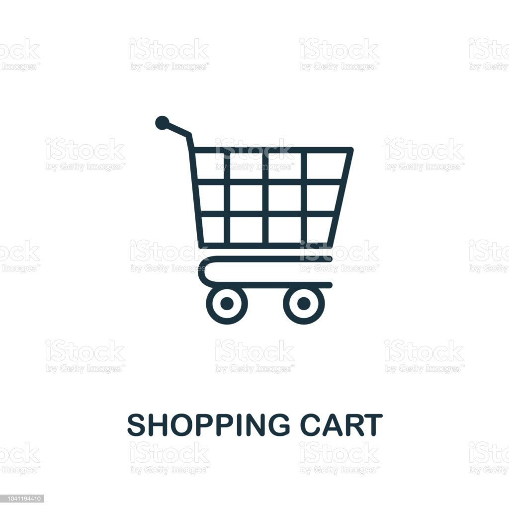 Shopping Cart Icon Monochrome Style Design From Ecommerce Icon Collection Ui Pixel Perfect Simple Pictogram Shopping Cart Icon Web Design Apps Software Print Usage Stock Illustration Download Image Now Istock
