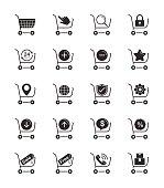 Shopping Cart icon on White Background Vector Illustration