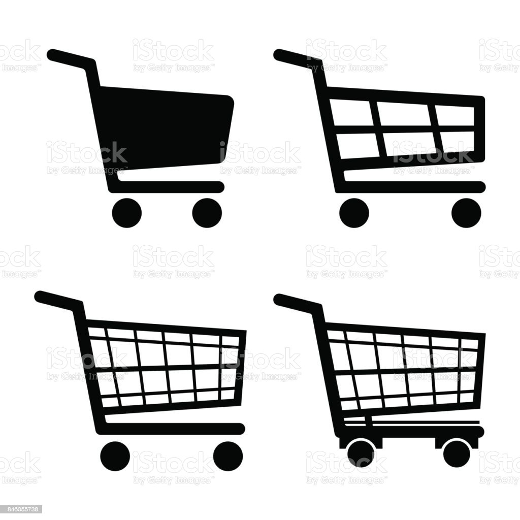 Shopping Cart Icon set icon isolated on white background. Vector illustration. vector art illustration