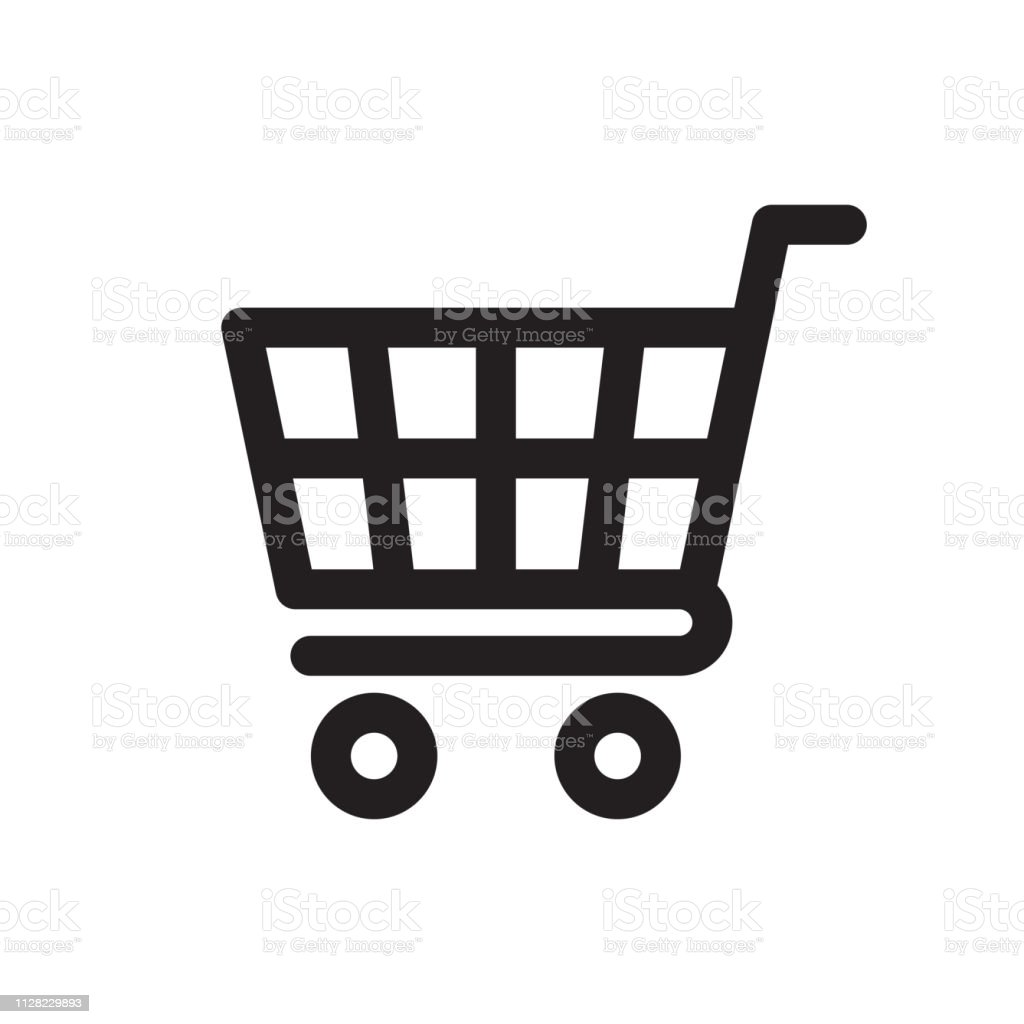 Shopping Cart Icon - Royalty-free Arte Linear arte vetorial