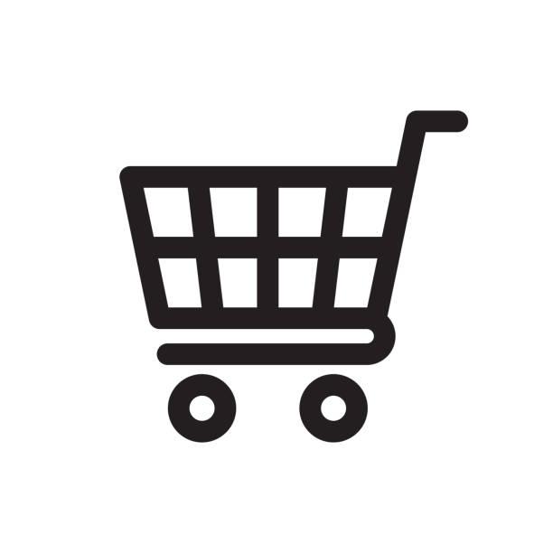 쇼핑 카트 아이콘 - 바구니 stock illustrations
