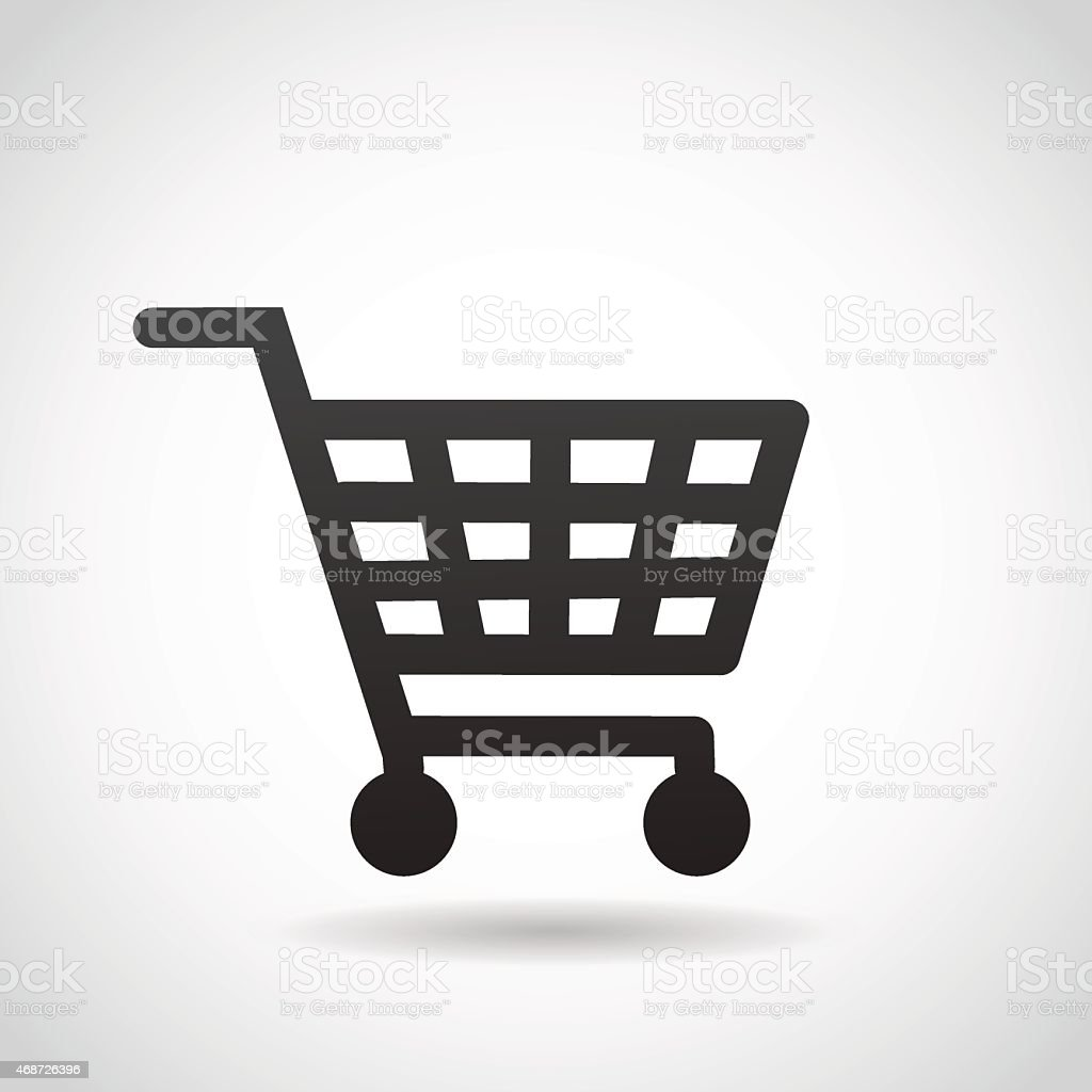 Shopping cart icon. vector art illustration