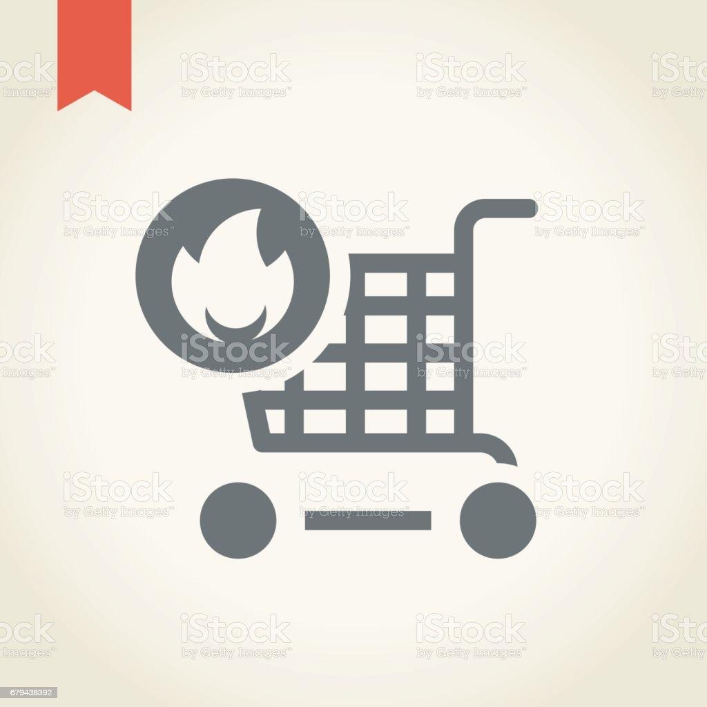 Icône du panier d'achats  icône du panier dachats – cliparts vectoriels et plus d'images de affaires finance et industrie libre de droits
