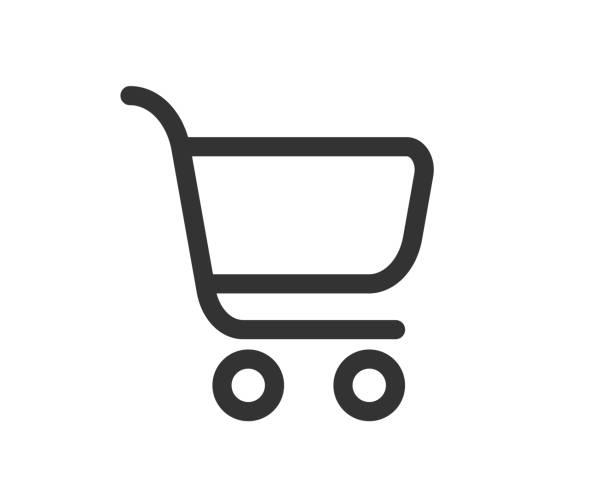 stockillustraties, clipart, cartoons en iconen met winkelwagentje icon vector - winkelwagentje