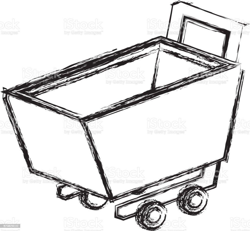 icône isolé de shopping panier icône isolé de shopping panier – cliparts vectoriels et plus d'images de acheter libre de droits