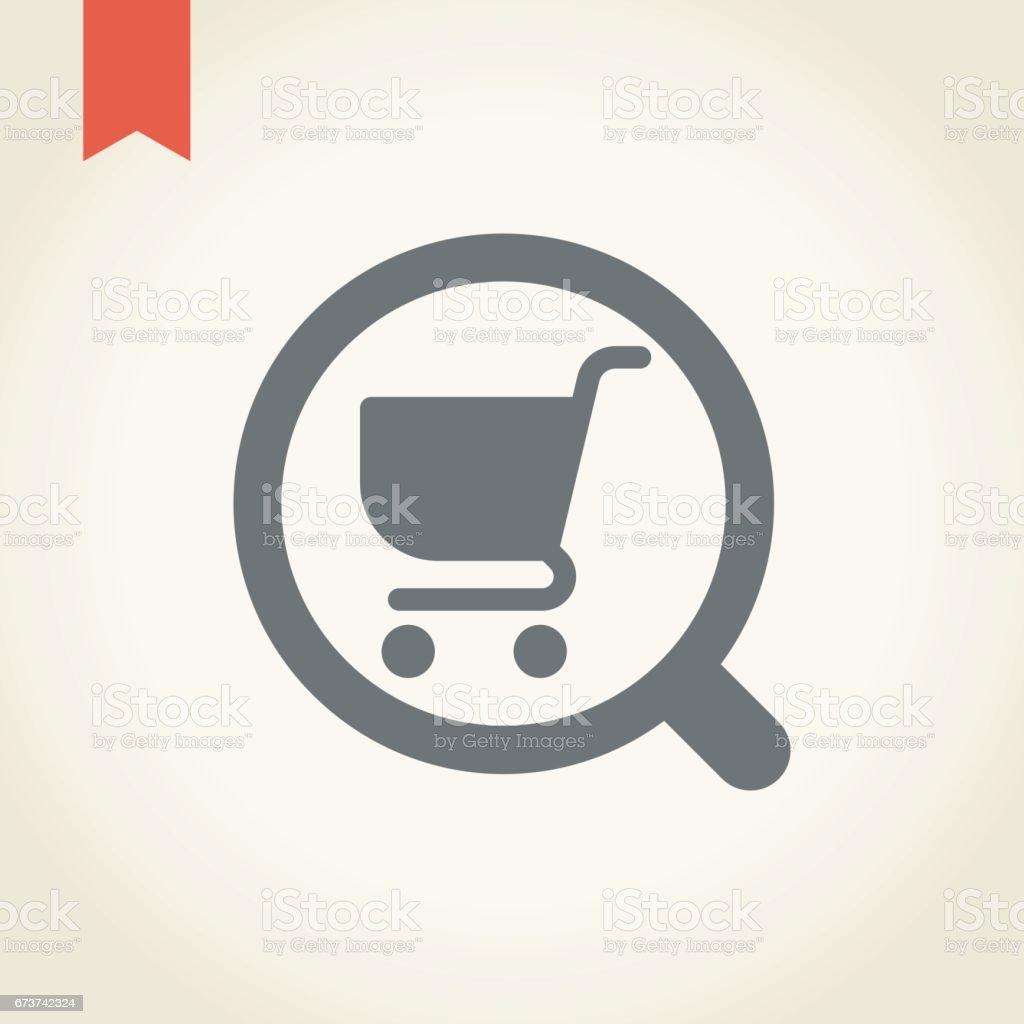 Alışveriş sepeti büyüteç simgesini royalty-free alışveriş sepeti büyüteç simgesini stok vektör sanatı & alışveriş'nin daha fazla görseli