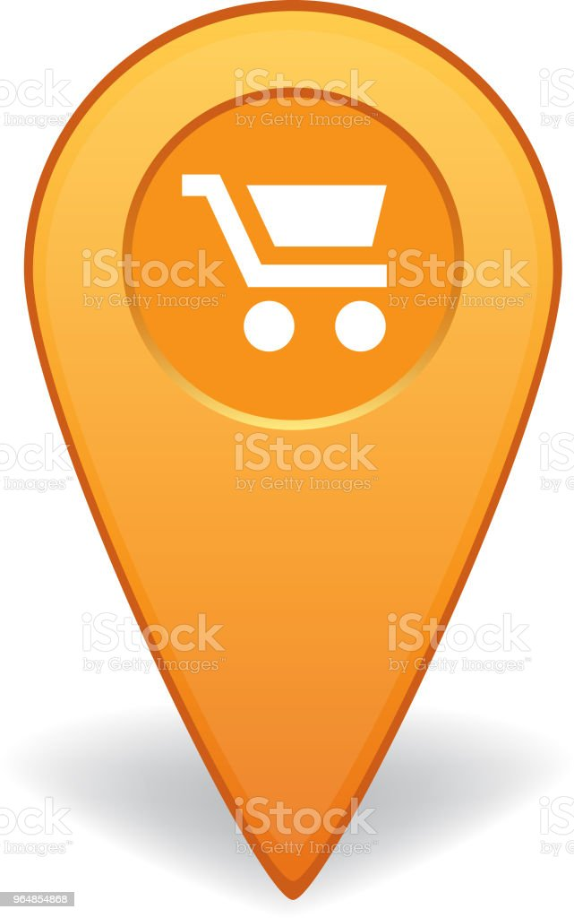 Shopping cart map pointer for GPS navigation royalty-free shopping cart map pointer for gps navigation stock vector art & more images of advice
