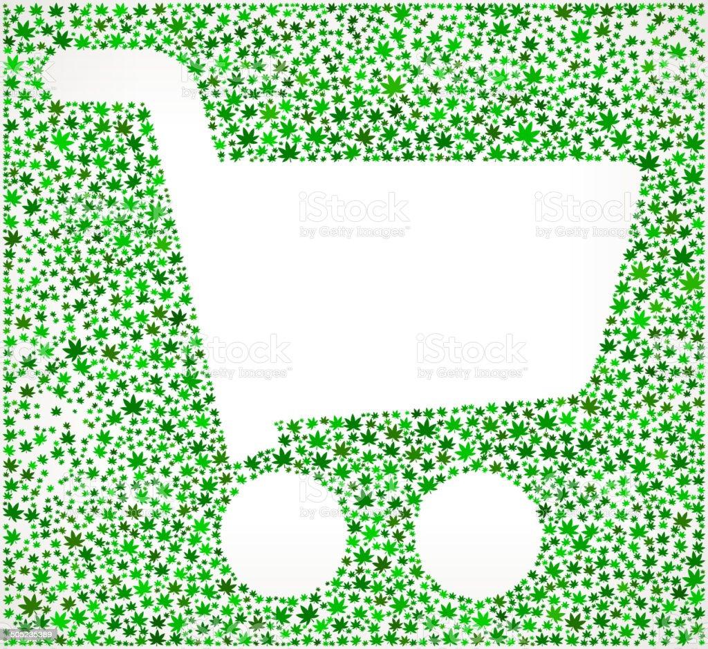 Ilustración De Cesta De Compras De Algodoncillo De Arte Vectorial