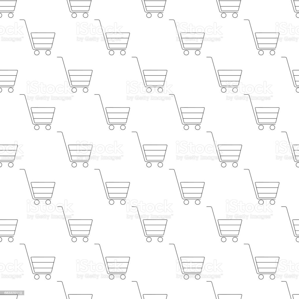 Shopping cart pattern seamless royalty-free shopping cart pattern seamless stock vector art & more images of backgrounds