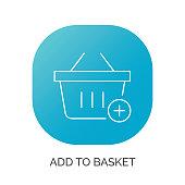 Shopping cart plus vector