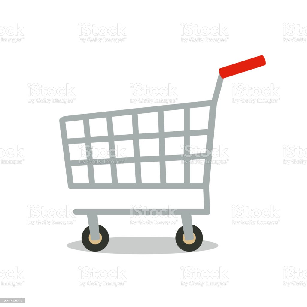 Shopping cart vector icon. vector art illustration