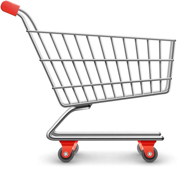 stockillustraties, clipart, cartoons en iconen met winkelwagentje - shopping cart