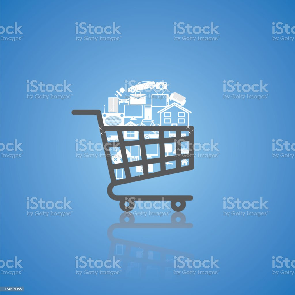 shopping cart royalty-free stock vector art