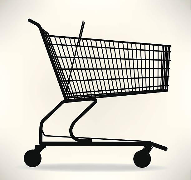 stockillustraties, clipart, cartoons en iconen met shopping cart - winkelwagentje
