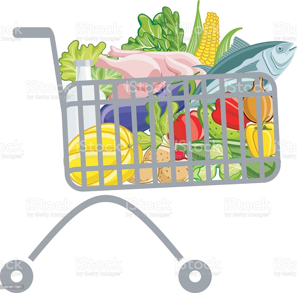 Shopping cart royalty-free shopping cart stock vector art & more images of agriculture