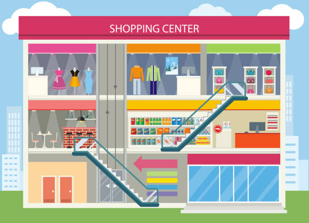 Royalty Free Shopping Mall Clip Art, Vector Images ...
