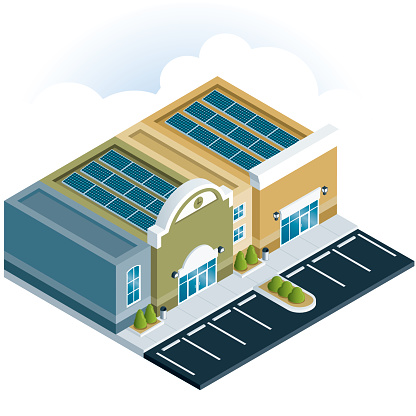 Shopping Center With Solar Panels