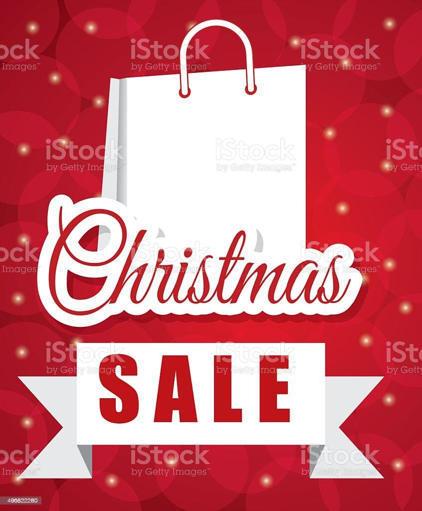 Shopping Weihnachtsangebote Und Rabatte Saison Vektor Illustration ...