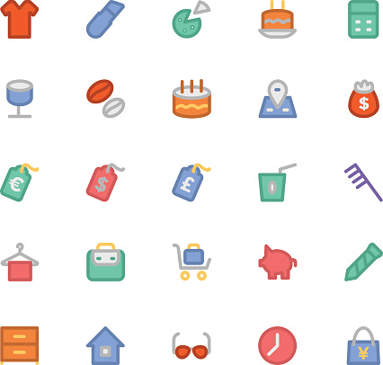 Shopping Colored Vector Icons 11