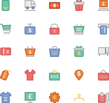 Shopping Colored Vector Icons 8