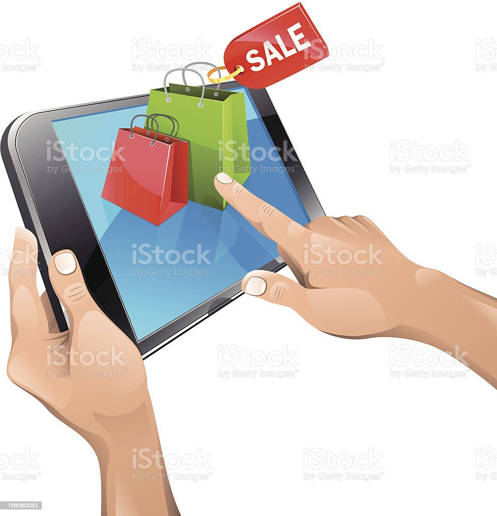 Shopping concept royalty-free stock vector art