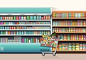 Vector illustration of the shopping concept.