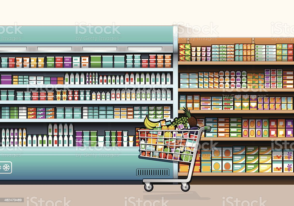 Shopping Concept vector art illustration