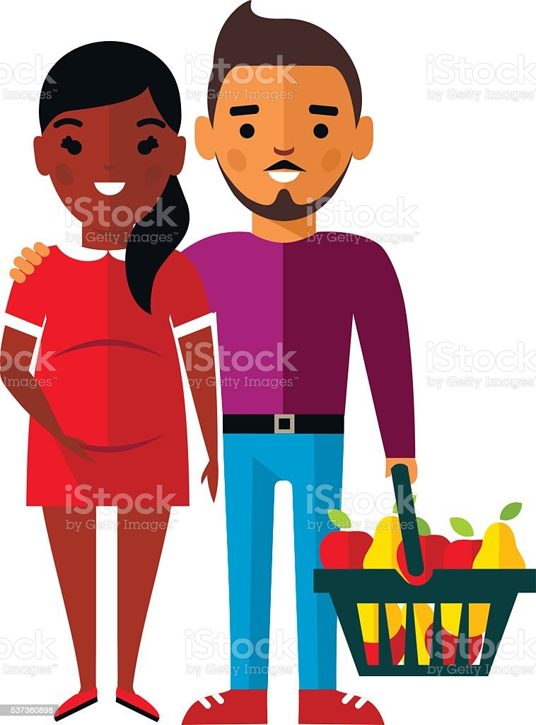royalty free african american family shopping clip art vector rh istockphoto com african american family clipart images african american family friends clipart