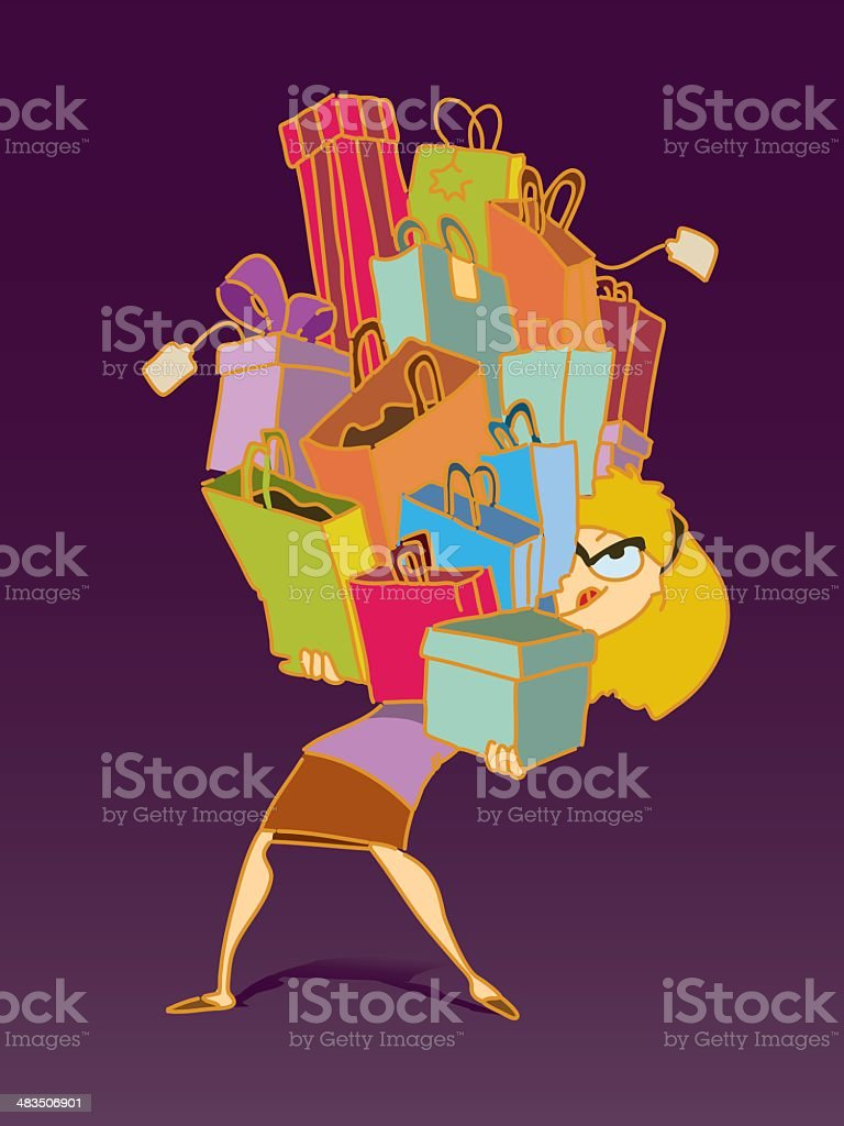 Shopping day royalty-free shopping day stock vector art & more images of adult