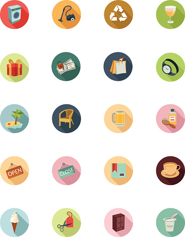 Shopping Flat Colored Icons 4