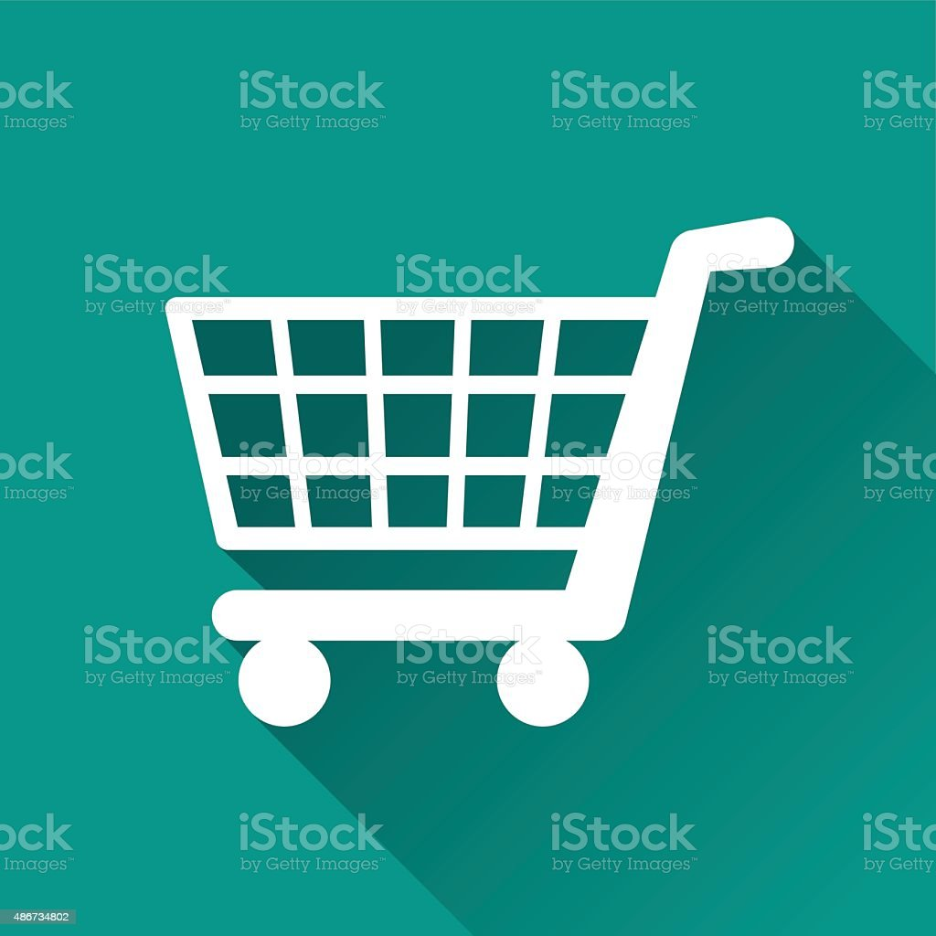 shopping flat design icon vector art illustration