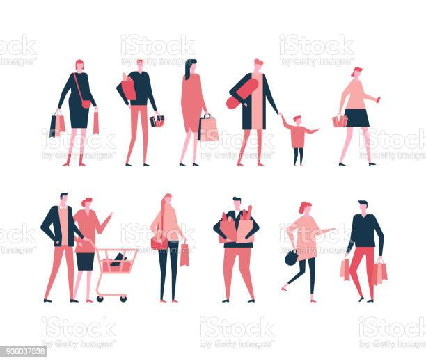 Shopping flat design style set of isolated characters vector id936037338?b=1&k=6&m=936037338&s=612x612&h=uqweghet87lmdwgf7zi8k99bp6jt3qidpmldvemzaeo=