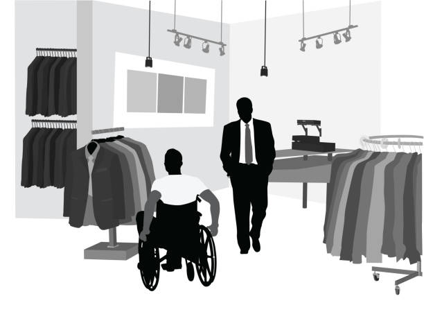 shopping for a suit - mens fashion stock illustrations, clip art, cartoons, & icons
