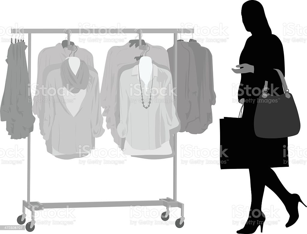 Shopping Habits royalty-free stock vector art