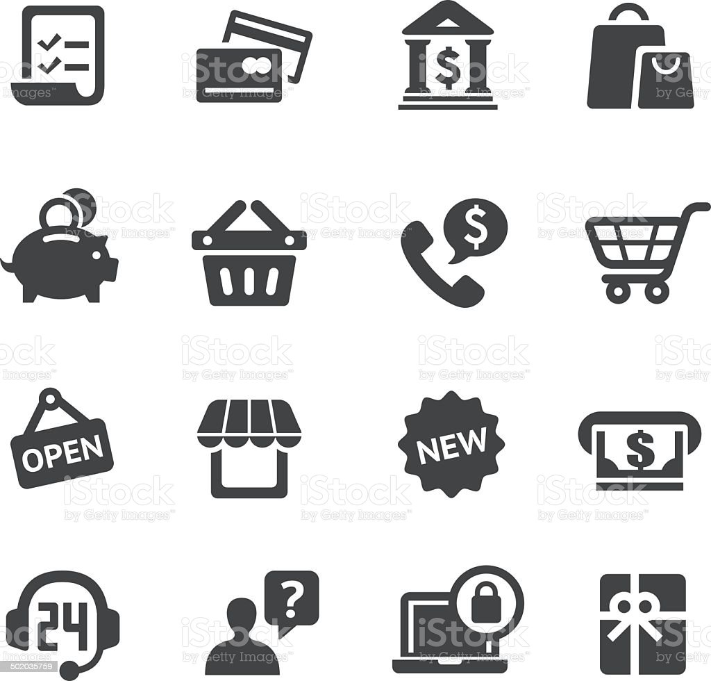Shopping Icon - Acme Series vector art illustration