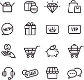 Shopping Icon - Line Series