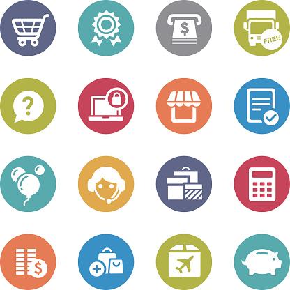 Shopping Icon Set - Circle Series