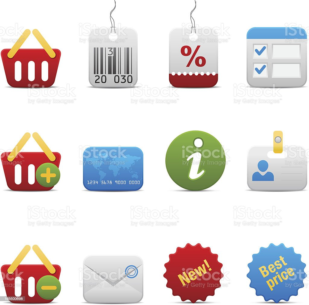 Shopping Icon Set. Soft series. royalty-free stock vector art