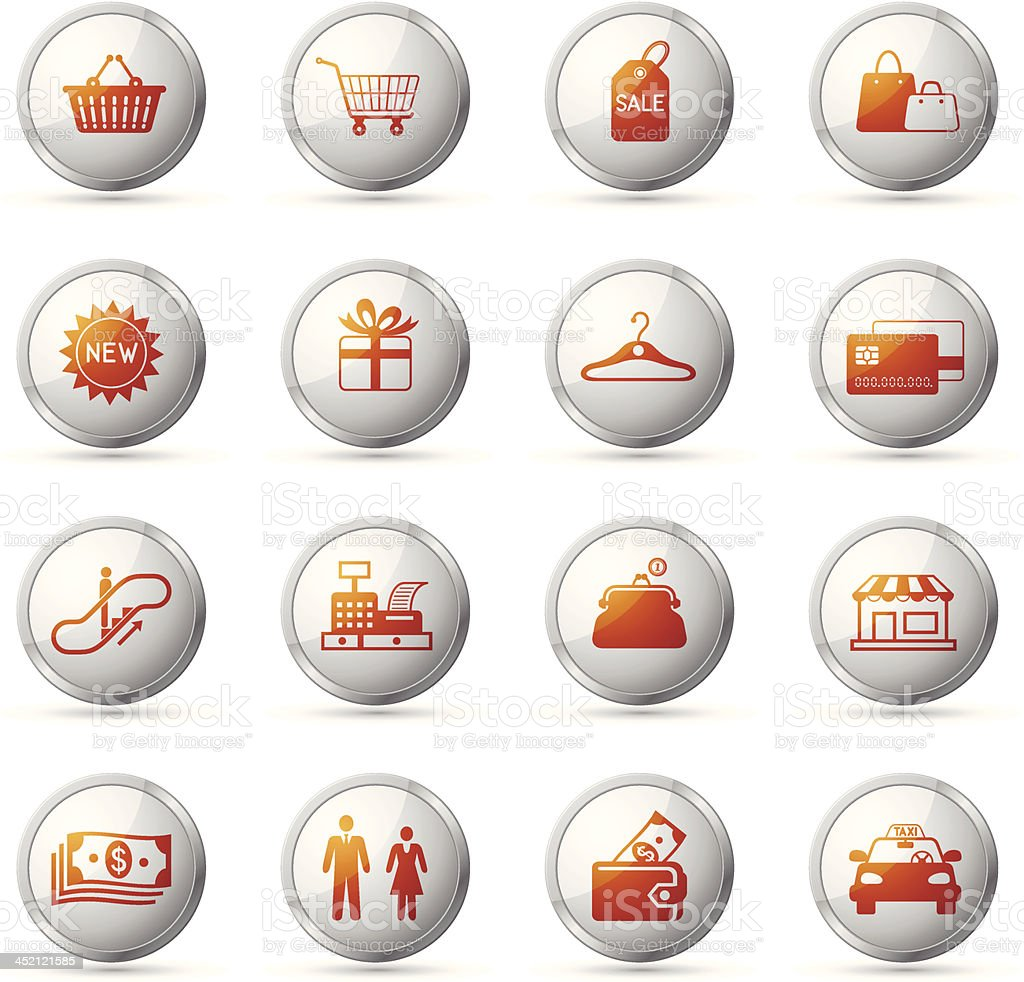 Shopping Icon Set royalty-free shopping icon set stock vector art & more images of 24 hrs