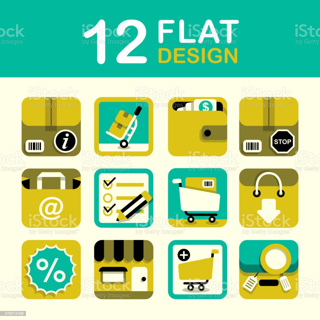 Shopping Icon Set royalty-free shopping icon set stock vector art & more images of asking
