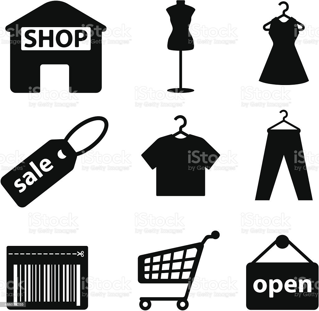Shopping-icon-set – Vektorgrafik